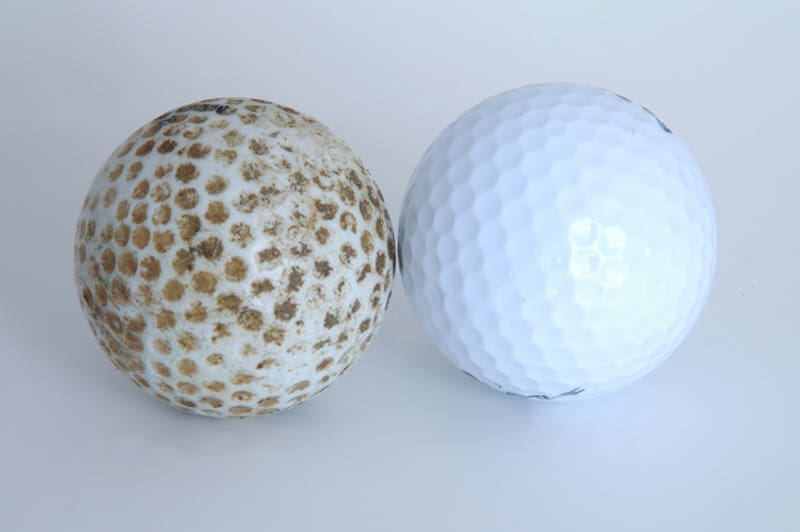 recycled and refurbished golf balls
