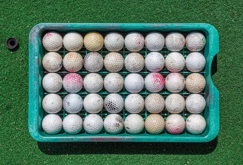 recycled golf ball